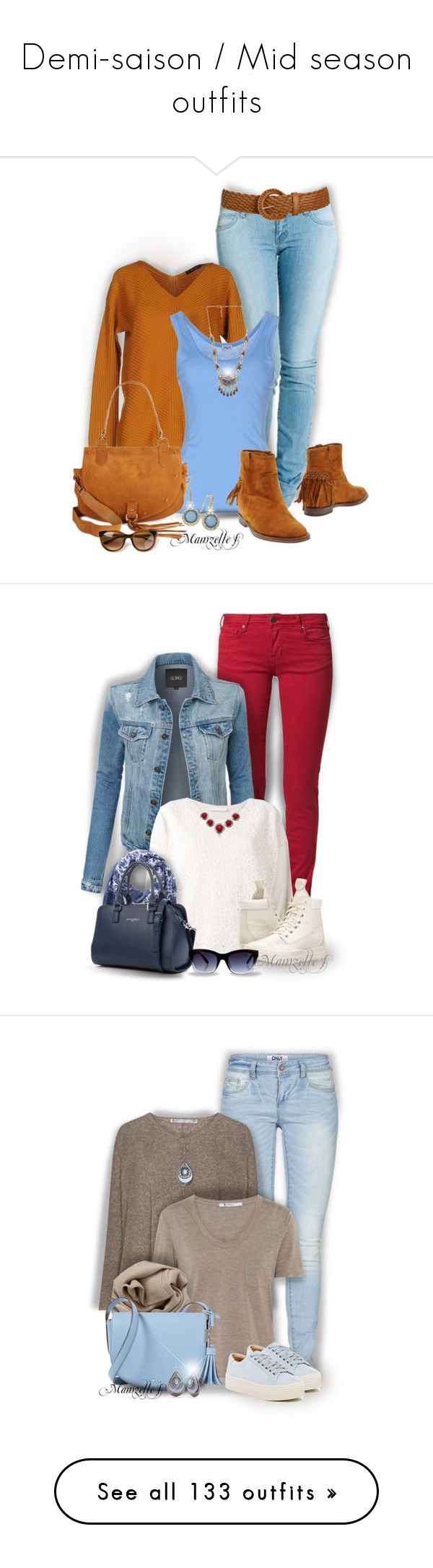 """""""Demi-saison / Mid season outfits"""" by mamzelle-f ❤ liked on Polyvore featuring Dr. Denim, Alpha Studio, Splendid, RIGHI, Wet Seal, See by Chloé, INC International Concepts, Natalie B, Thierry Lasry and CIMARRON"""