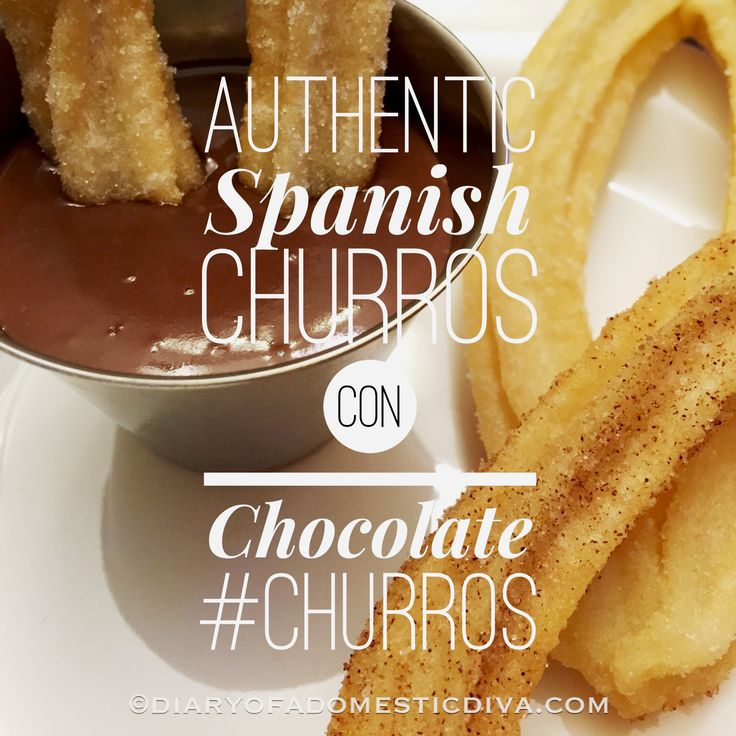 Authentic Spanish Churros con Chocolate - Powered by @ultimaterecipe