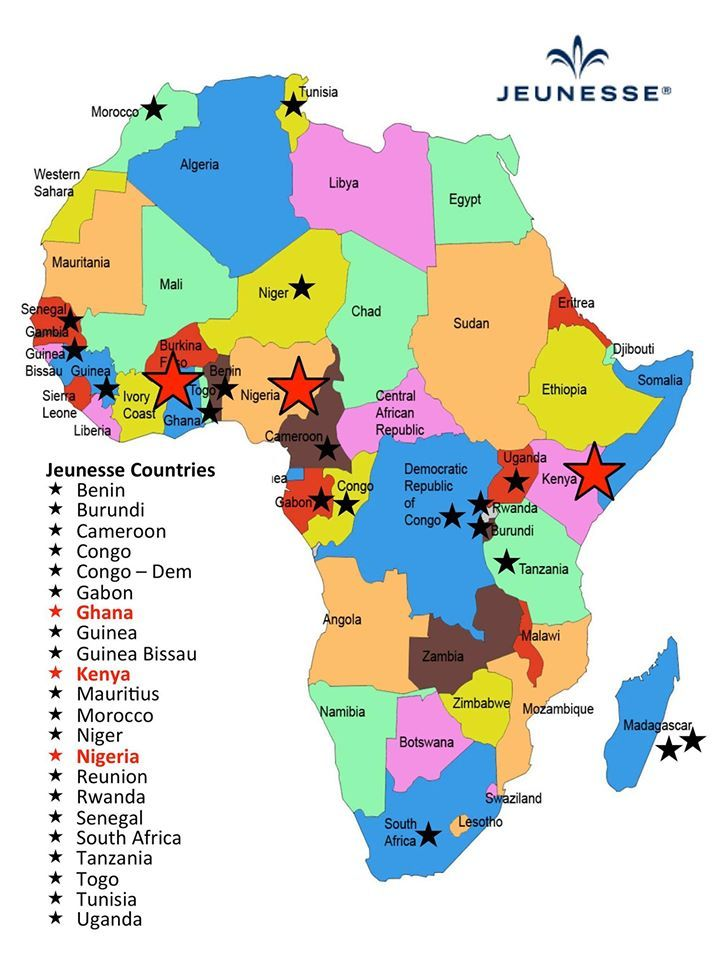 Jeunesse® Global is pleased to announce today the official opening of four more countries in Africa - Uganda, Tanzania, Rwanda and Burundi. This now makes a total of 22 African countries where you are able to conduct your Jeunesse business. In addition, we also have three regional offices set up that you can visit in Ghana, Nigeria and Kenya. Click >>> http://www.fullofblessings.jeunesseglobal.com/