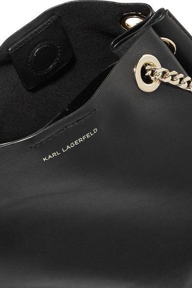 Karl Lagerfeld - K/slouchy Small Leather Shoulder Bag - Black
