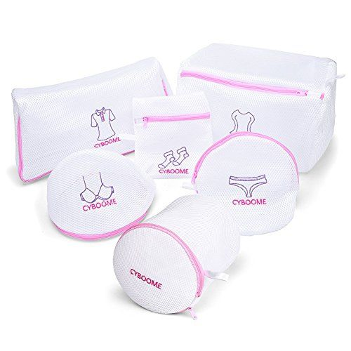 #Delicates Laundry Bags This popular mesh laundry bags set includes 1 Bra Bag (7.5*7.3*5.9 inch) ; 1 Large Bra Bag (6.3*6.3*6.3 #inch) ; 1 Sock & Hosiery Bag (7*...