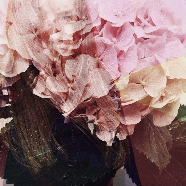 Girl & flower