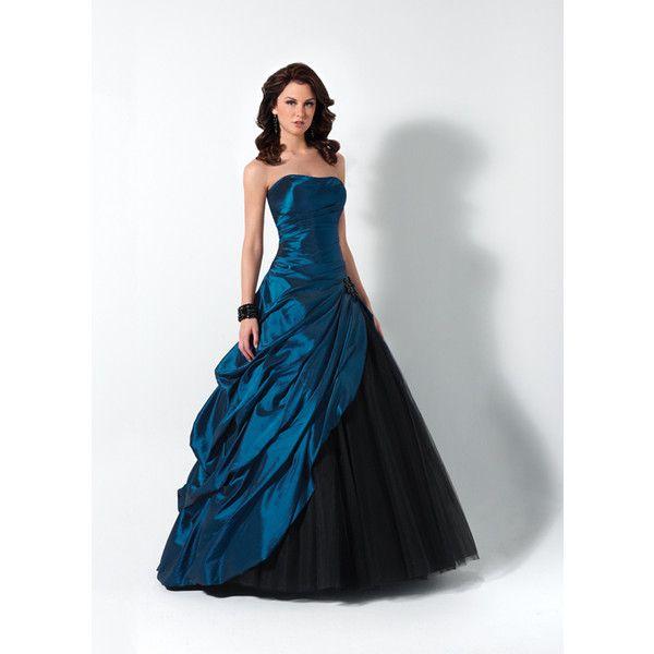Black and blue corset prom dress