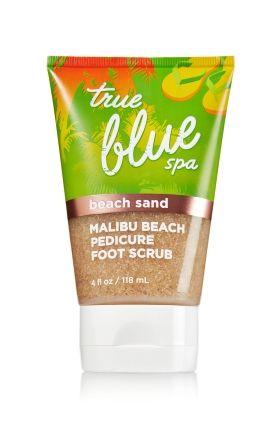 Malibu Beach Pedicure Foot Scrub with Beach Sand - True Blue® Spa - Bath & Body Works #EastwoodPinPals
