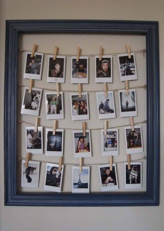 After stumbling upon Meredith's DIY frame  + 52 weeks of instax project I thought this would be an excellent idea for one of Jon's birthday ...