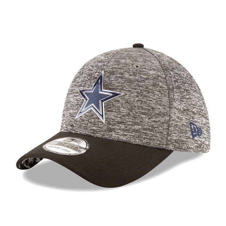 Dallas Cowboys New Era Draft Shadow Tech 39THIRTY Flex Hat - Heather Gray/Black - $25.59