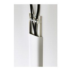 IKEA - UPPLEVA, Cable cover strip,  , , Makes it easy for you to collect and conceal cords for your wall-mounted TV.Can be painted or covered with wallpaper to match your walls.Can be cut to desired length