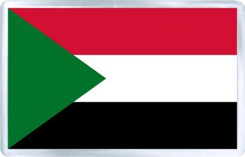 $3.29 - Acrylic Fridge Magnet: Sudan. Flag of Sudan