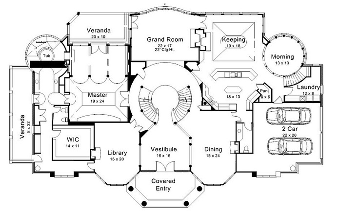 House Plan Lots Of Different Blueprints To Choose From