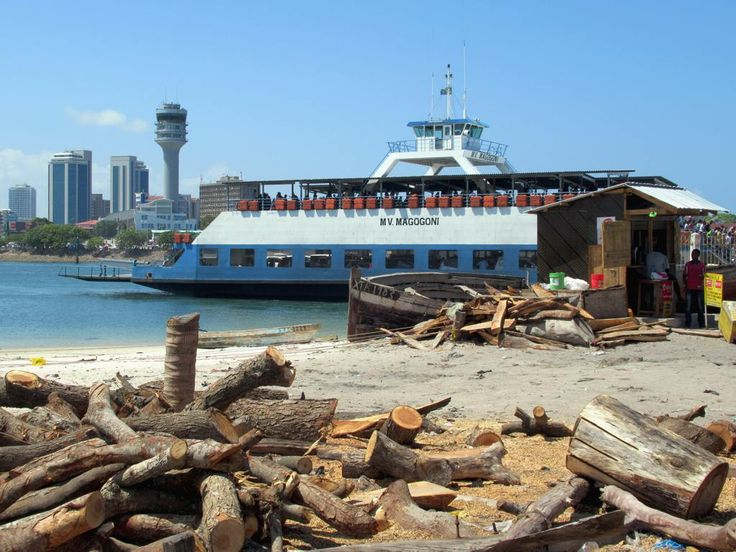The Kigamboni Ferry Terminal just across the harbour mourh from Dar es Salaam, Tanzania, provides access to the main beach resorts south of the city.
