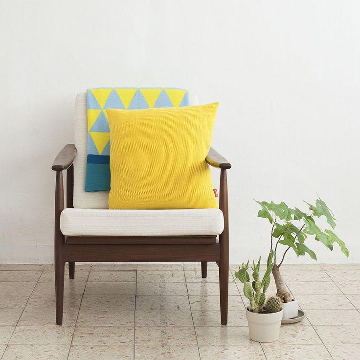 ANNA  - Knitted Textural Cushion 100% Merino