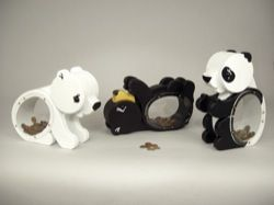 This set of coin banks includes three baby bears - a polar bear, a black bear and a panda bear. This plan includes full size patterns for all three banks. Each bear is made from 4 layers of 3/4 inch ...