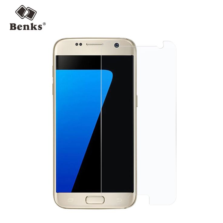 Benks Clear Tempered Glass Screen Protector for Samsung Galaxy S7 Mobile Phone Brand 2.5D Curved 9H Anti-Explosion Front Film