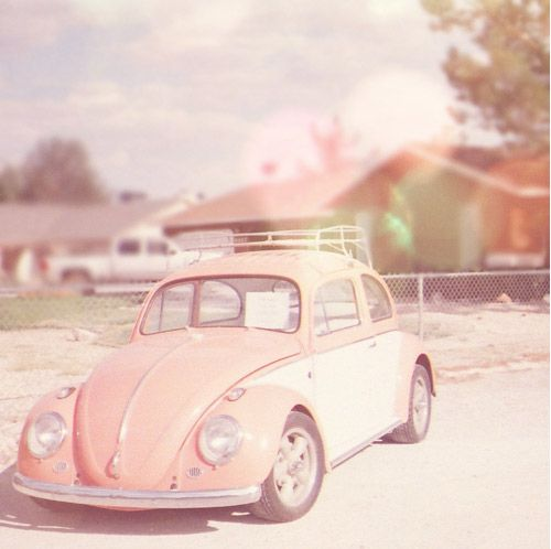 VW Beetle: Punch Buggy, First Cars, Vw Beetles, Vw Bugs, Pink Cars, Vintage Pink, Pale Pink, Future Cars, Old Cars