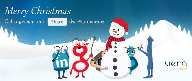 Merry Web #Christmas! Share the #Snowman! #webchristmas #christmasgreetings #smm