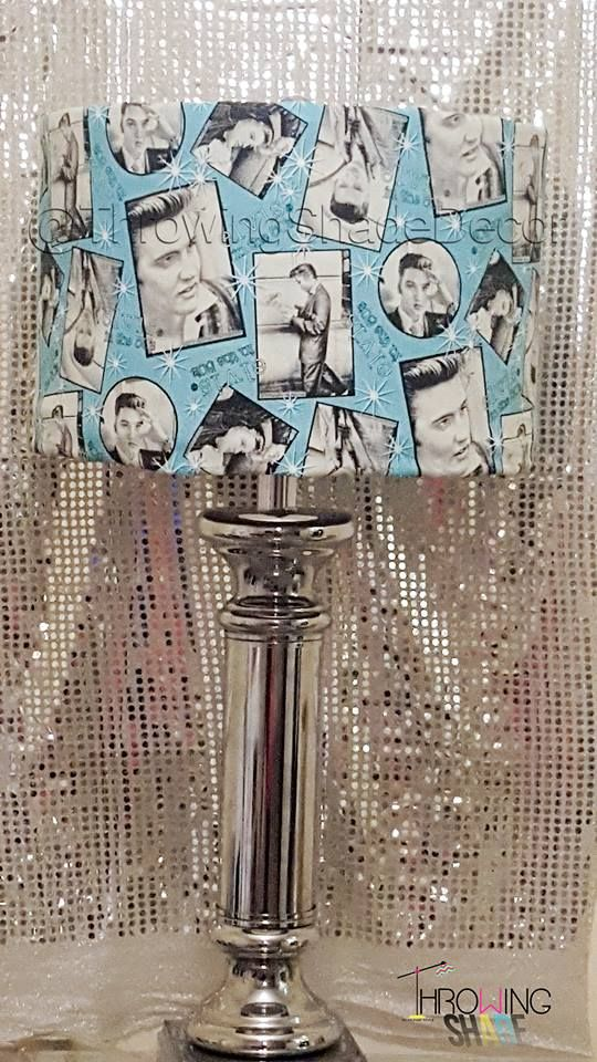 17 best lamp shade slip covers images on pinterest lamp shades for all those elvis presley fans the king can live on with this lamp shade mozeypictures Gallery