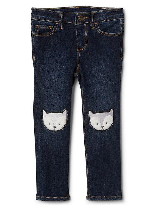 High stretch fox-knee skinny jeans