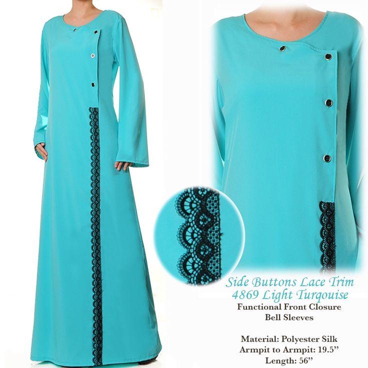 4869 Lace Trim Abaya Dress - Standard Size S/M US$26 FREE SHIPPING WORLDWIDE  Buy It Here --> http://shop.pe/lGuoP