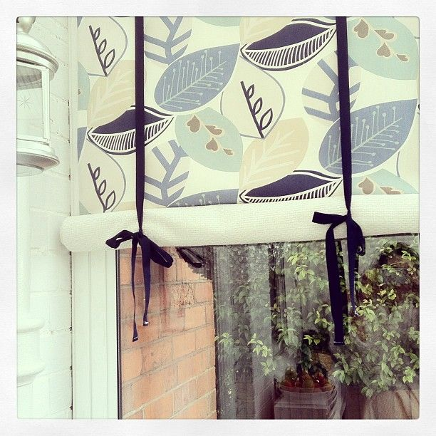 I love my conservatory. I wanted to add blinds to remove the 'fish tank' feeling. The cost of conservatory blinds is really quite silly. So, I created roll up tie blinds at a fraction of the cost. They add shade in the summer and warmth in the winter.