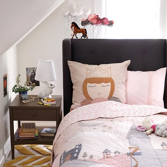 Let Down Your Hair Bedding The Land Of Nod Kids Rooms