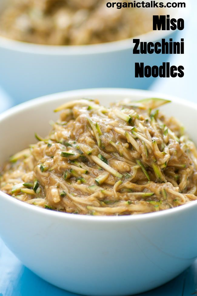Miso Zucchini Noodles -organictalks.com | Keto Approved | Pinterest