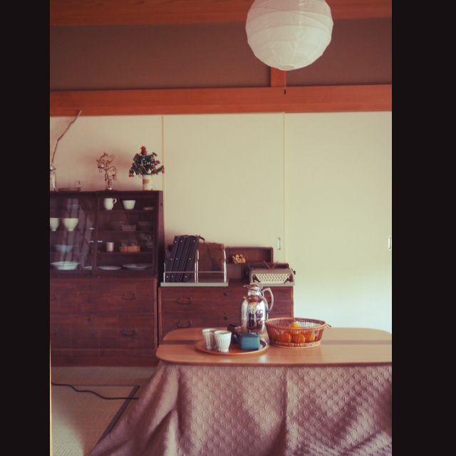 --ao--さんの、和箪笥,襖,リフォーム,古い建具,古道具,日本家屋,カフェ風インテリア,昭和レトロ,和家具,障子,リノベーション,買ってよかったモノ,こたつ,リビング,のお部屋写真