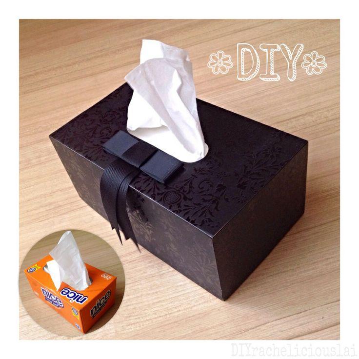 Diy tissue box cover racheliciousdiy pinterest box for Tissue box cover craft