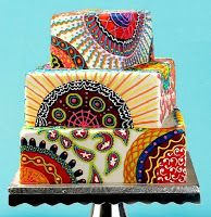 A Particularly Creative Nigerian Wedding Cake #contemporary #Ankara #African #cake #afrocentric #wedding #engagement #edibleart