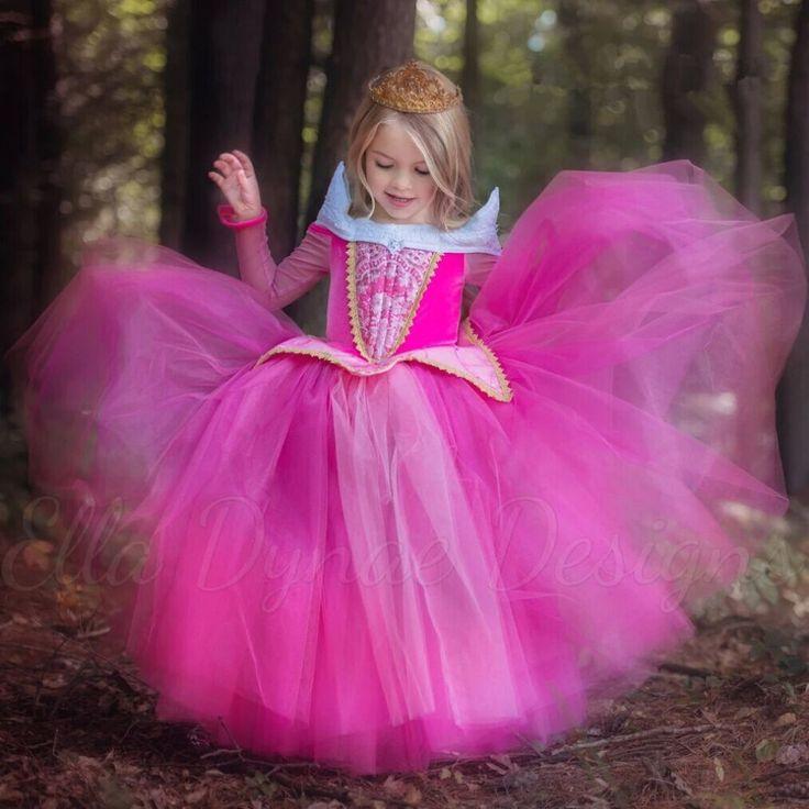 O Envio gratuito de Varejo Vestido de Princesa Crianças Vestidos De Verão Vestido Elsa Vestido 2016 Do Partido Do Traje Da Princesa Aurora Princesa Rosa em Vestidos de Mamãe e Bebê no AliExpress.com | Alibaba Group