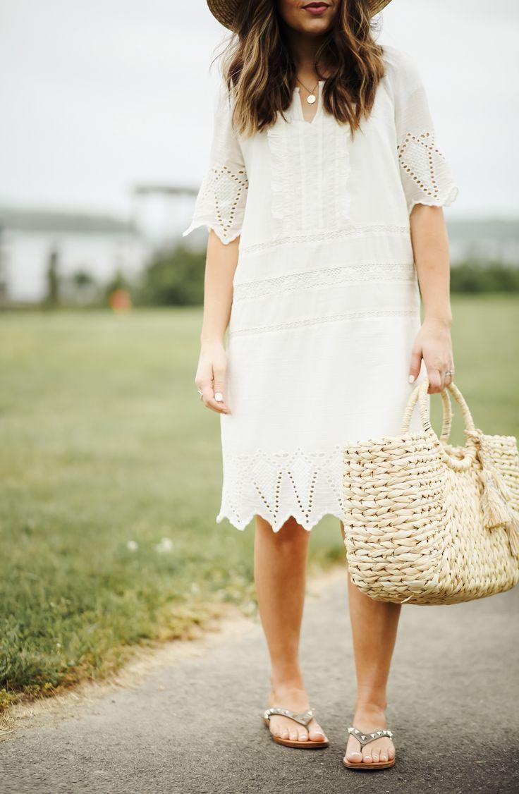 1294da42810b look for less  white eyelet summer dress. - dress cori lynn