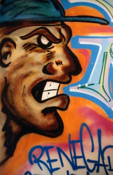 Graffiti at Artus Hotel, Paris. (Jonathan Smith) LPI