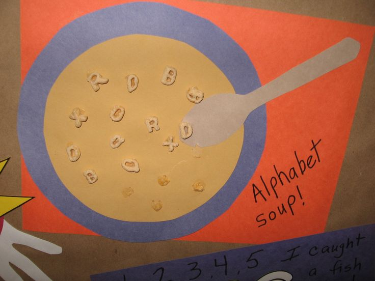 Alphabet Soup Craft Soup Storytime Preschool Crafts