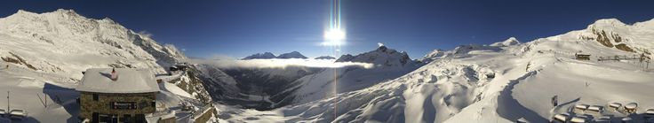 Saas Fee webcam Saas-Fee Längfluh Skiweather.eu