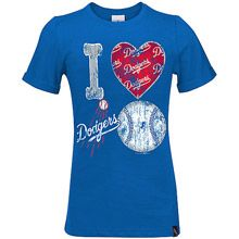 Los Angeles Dodgers Girl's Baby Jersey Crew Neck T-Shirt