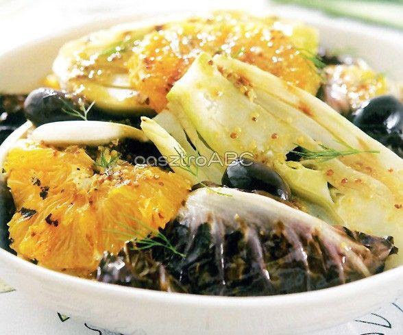 Grillezett édeskömény-, radicchio- és narancssaláta   Receptek
