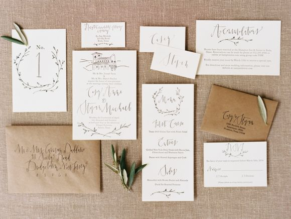 Navy and Gold Inspired Organic Wedding