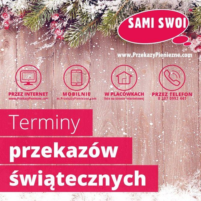 Sprawdź świąteczny rozkład jazdy w #SamiSwoiPrzekazyPieniezne.com