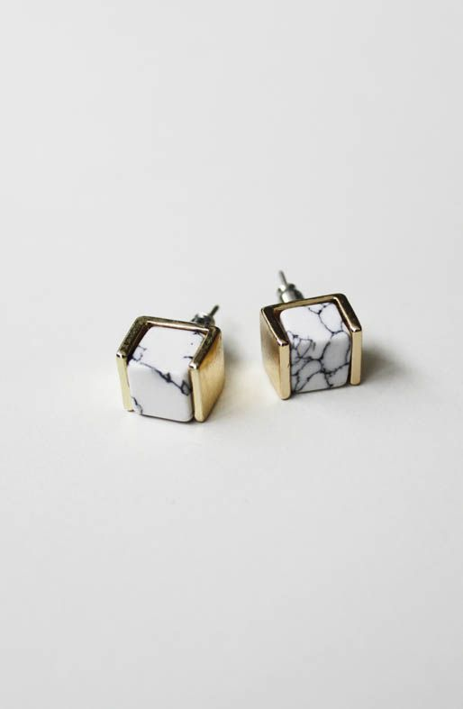 ACCESSORIES :: All Accessories :: Marble Stud Earrings - - Open Closet | Online Fashion Store | Womens Clothing and Accessories | Brisbane, Queensland, Australia