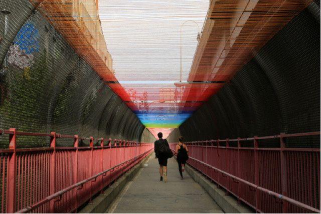 Arco Iris en el Puente de Williamsburg,