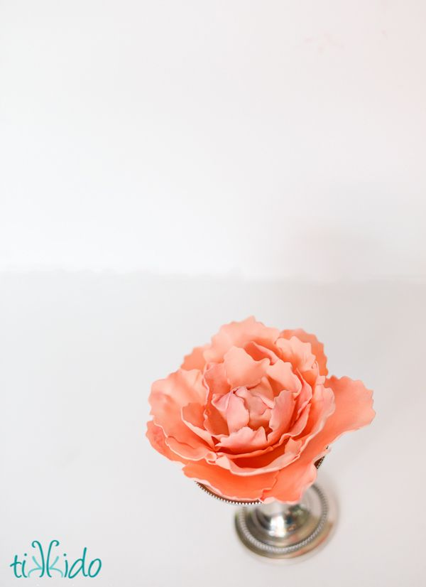 how to make fondant peony flowers