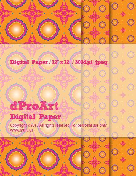 Indian Saree 01 Digital Paper, IndianSaree-01
