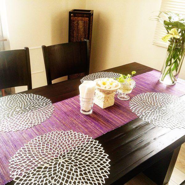 食事を楽しく華やかに!素敵なランチョマットでダイニングを飾ろう ... 出典:http://roomclip.jp