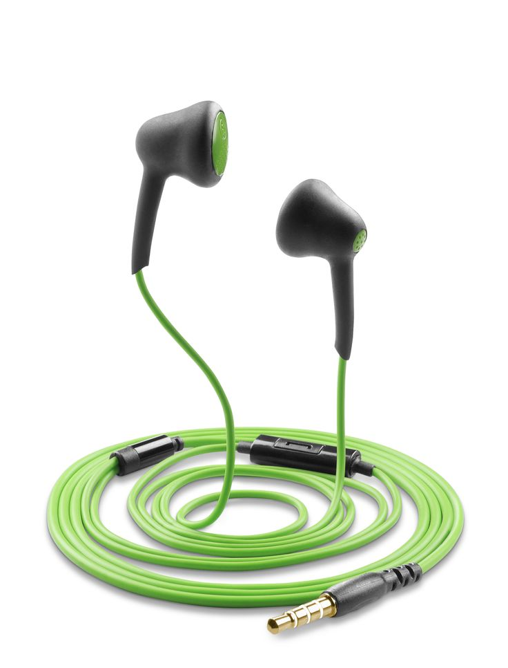 FIREFLY - Auricolari stereo con microfono, colore verde https://www.cellularline.com/catalog/it/product/firefly