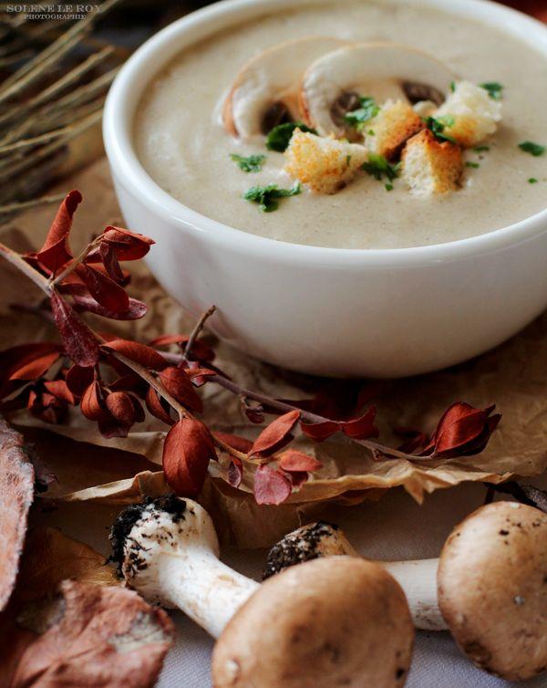 Velouté aux champignons, Kiri et petits croutons! Les bonnes recettes d'hiver!