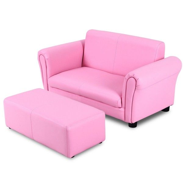 Kids Double Sofa With Ottoman Sofas Furniture Kids Sofa