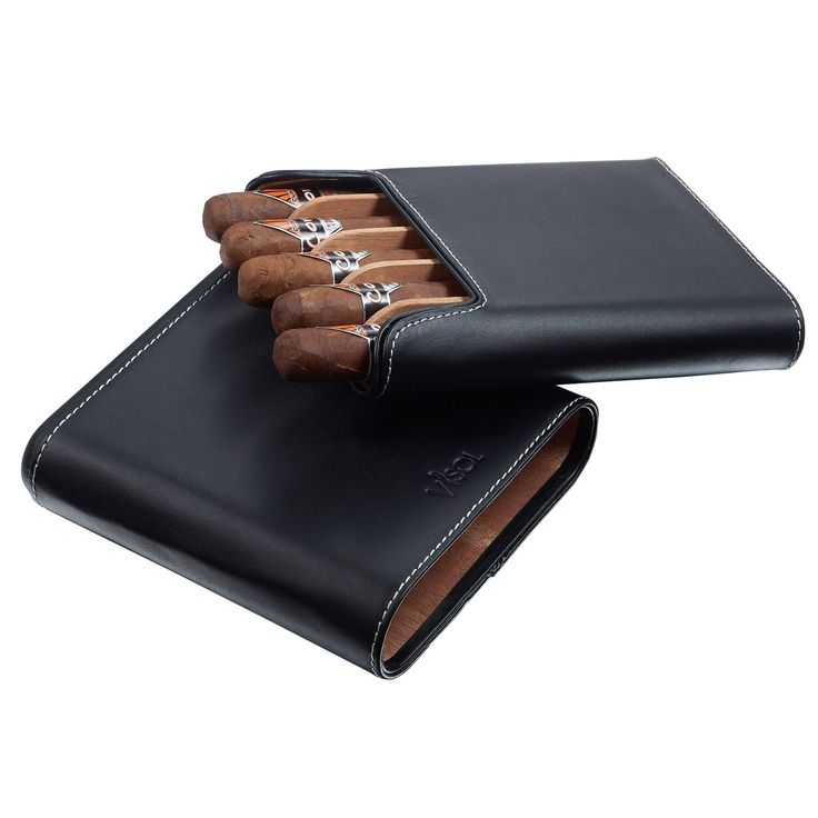 Visol Cuero Genuine Leather 5-Finger Cigar Case