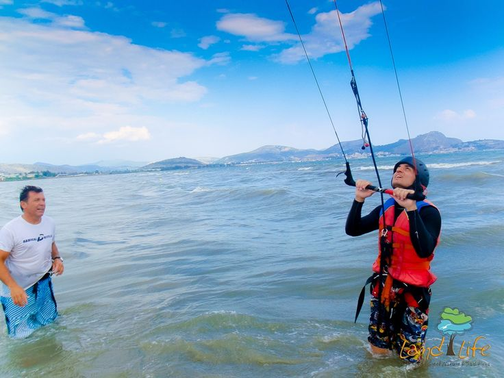 Certified istructors in Peloponnese untertake to train us the secrets of Kite Surf
