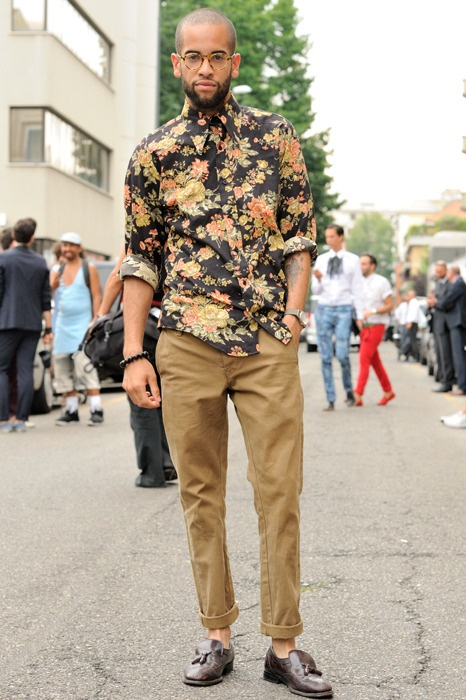 floral pattern shirt, men's fashion
