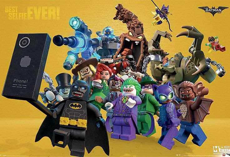 Best selfie ever! #thelegobatmanmovie #LEGO #batman #joker #harleyquinn #poisonivy #manbat #mrfreeze #killercroc #scarecrow #riddler #batgirl #robin #twoface #catwoman #penguin #clayface #selfie