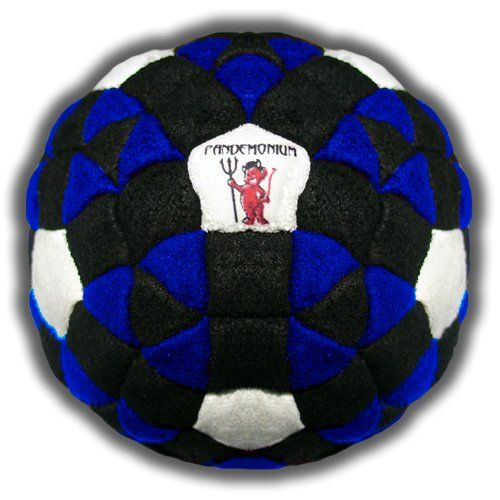 Kraken Footbag 152 Panels Great Hacky Sack Sand & Iron Weighted At 2.1 Ounces. Material: Ultra Suede. Filling: sand & Iron Weight: 60 Grams /2.1 ounces. Will you dare kick this collector's item? or will you put it in your display case next to your Special Edition Millenium Falcon? Panels: 152! Fill level: Medium. Color: Blue, Black & White. Weight: 13, width: 197, height: 197 hundredths-inches. Manufacturer min age: 72 months. Diameter: 5.5 cm / 2¼ inches.